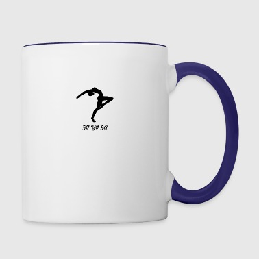 yoga - Contrast Coffee Mug
