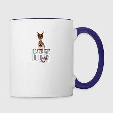 I_love_my_doberman_white - Contrast Coffee Mug