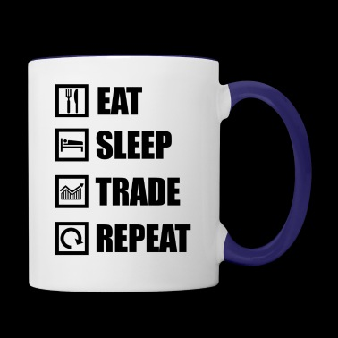 eat sleep repeat - Contrast Coffee Mug