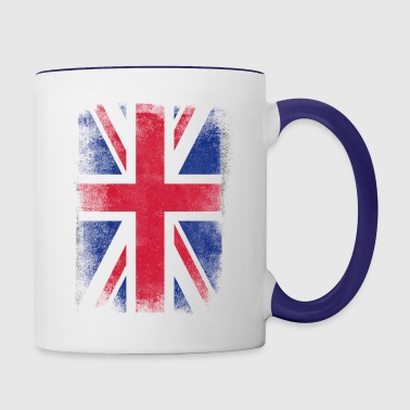 United Kingdom Flag Proud British Vintage Distress - Contrast Coffee Mug