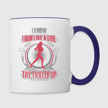 Run like a girl - Contrast Coffee Mug