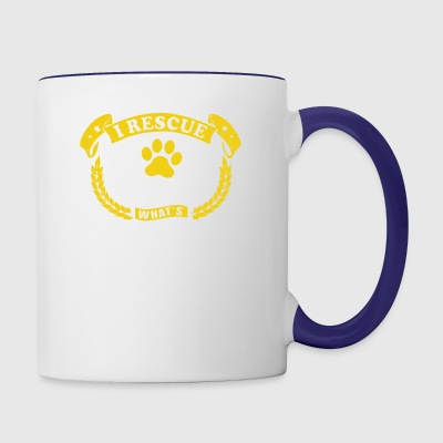 I Rescue Dogs Shirt - Contrast Coffee Mug