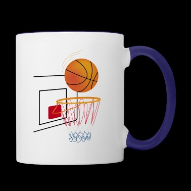 basketball hoop - Contrast Coffee Mug