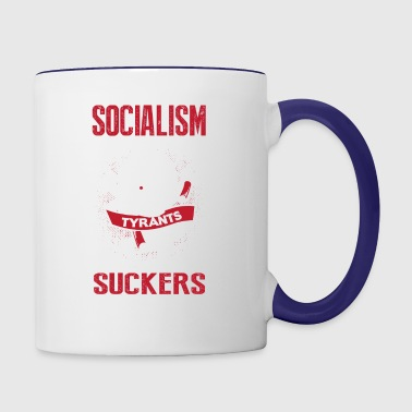 Socialism is the Promise of Tyrants - Contrast Coffee Mug