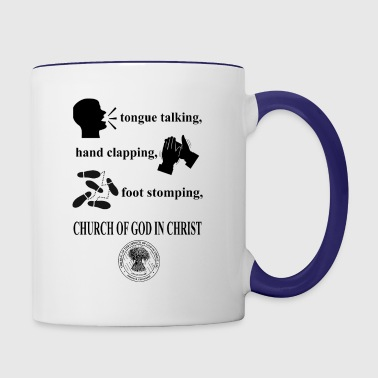 talking clapping stomping Church of God in Christ - Contrast Coffee Mug