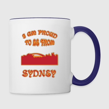 SYDNEY I am proud to be from - Contrast Coffee Mug