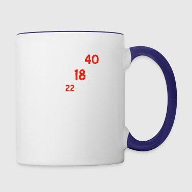 40th birthday designs - Contrast Coffee Mug