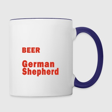 Love Beer And German Shepherd Shirt - Contrast Coffee Mug