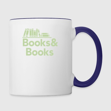 Books and books - Contrast Coffee Mug