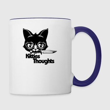 Kitten Thoughts - Contrast Coffee Mug