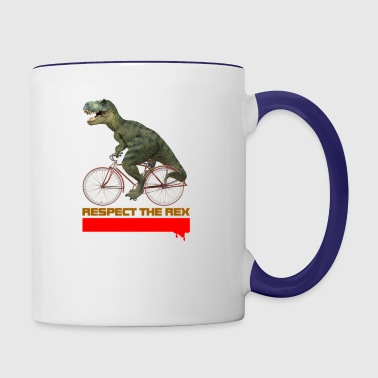 respect the rex - Contrast Coffee Mug