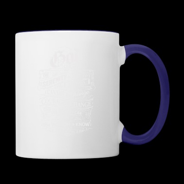 The serenity to accept the things - Contrast Coffee Mug