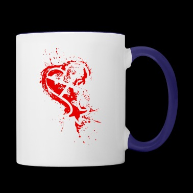 Heartless Splatter - Contrast Coffee Mug