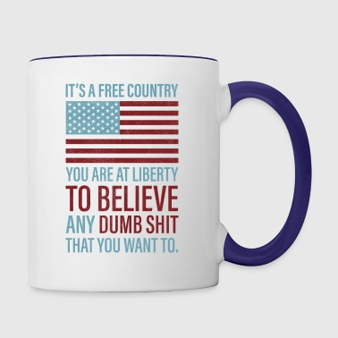 It's a Free Country - Contrast Coffee Mug