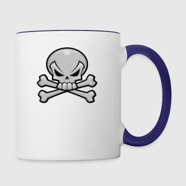 Skull and Crossbones - Contrast Coffee Mug