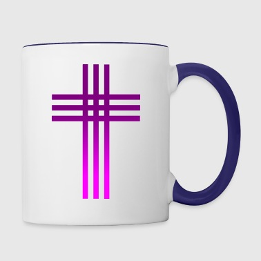 Catholic Cross - Contrast Coffee Mug