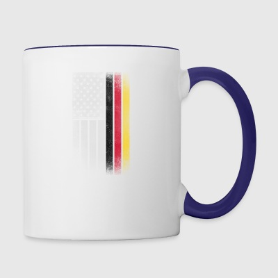 German American Flag - Half German Half American - Contrast Coffee Mug
