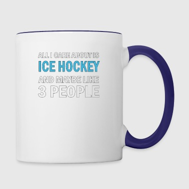 All I Care About is Ice Hockey - Contrast Coffee Mug