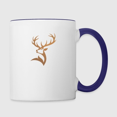 Majestic Deer Logo - Contrast Coffee Mug