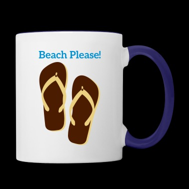 beach please! - Contrast Coffee Mug