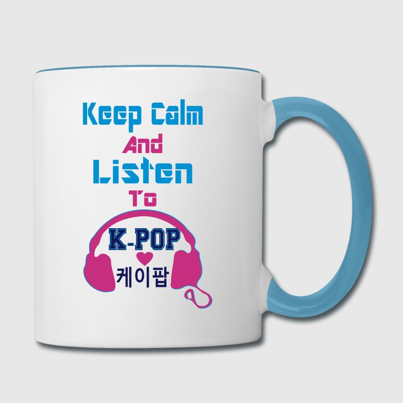 ♥♫Keep Calm and Listen to K-Pop-I Love KPop♪♥ - Contrast Coffee Mug