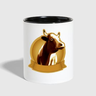 Cow emblem - Contrast Coffee Mug