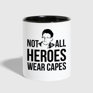 not all heroes wear capes - Contrast Coffee Mug
