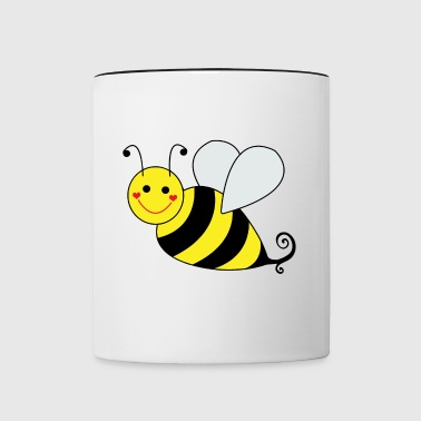 Cute Bumble Bee - Contrast Coffee Mug
