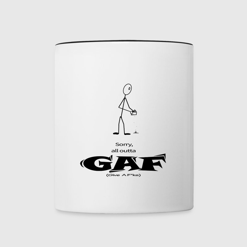 All Outta GAF (Black) - Contrast Coffee Mug