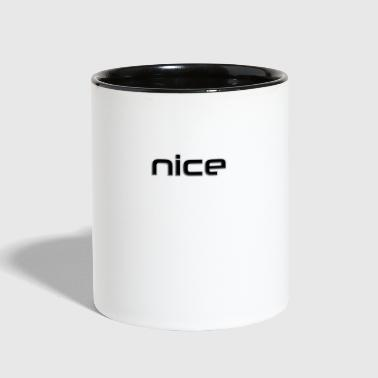 Relief nice - black relief - Contrast Coffee Mug