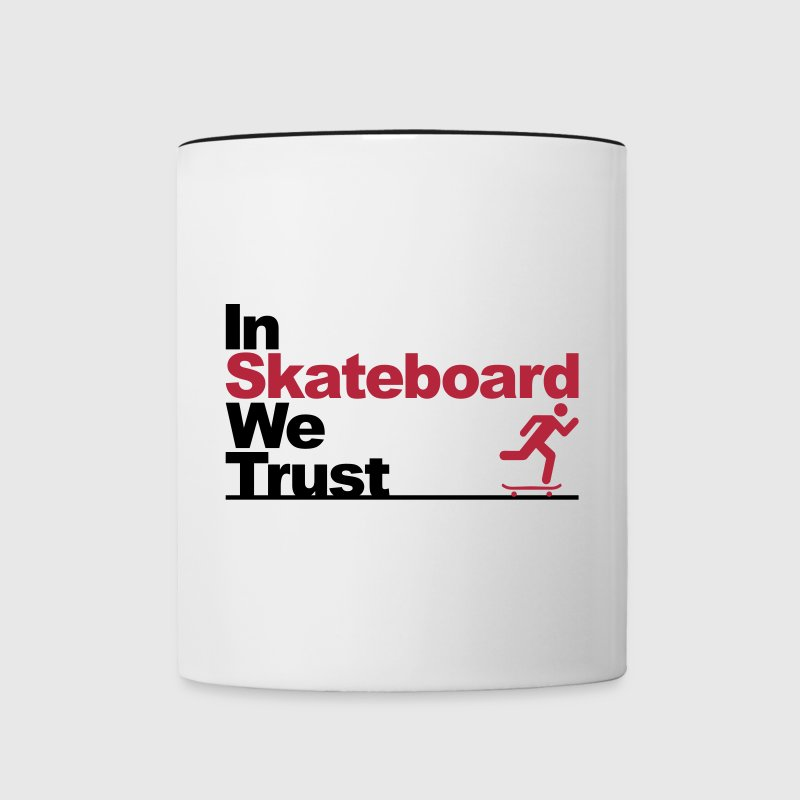 In Skateboard we trust - Contrast Coffee Mug