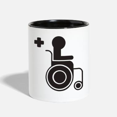 Sit sitting in a wheelchair - Contrast Coffee Mug