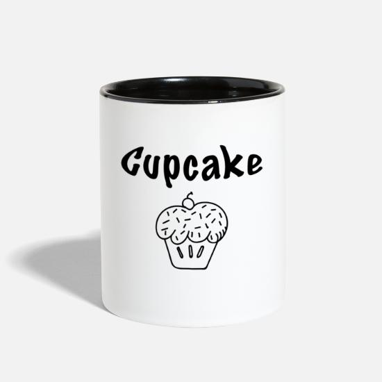 Cupcake Mugs & Drinkware - Cupcake - Two-Tone Mug white/black