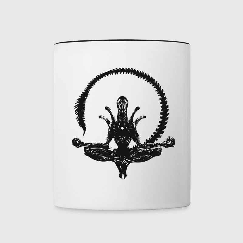 Zen Alien - Contrast Coffee Mug