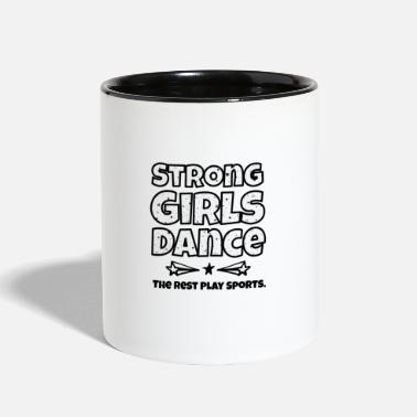 Square Funny Stong Girls Dance square - Two-Tone Mug