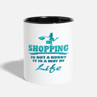 Shops Shopping - Contrast Coffee Mug