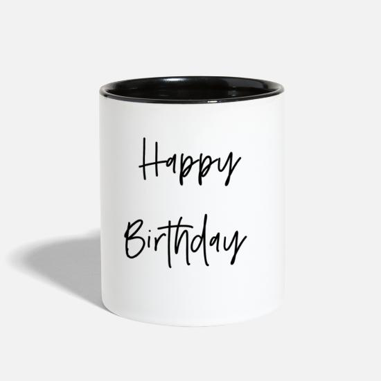 Happy Mugs & Drinkware - Happy Birthday - Two-Tone Mug white/black