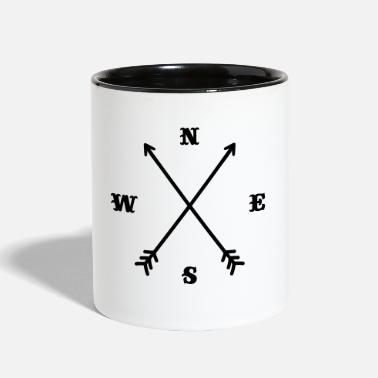 Anchor Hipster compass / Cross - Modern Trendy Outfit - Contrast Coffee Mug