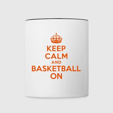 Keep calm and basketball on crown - Contrast Coffee Mug