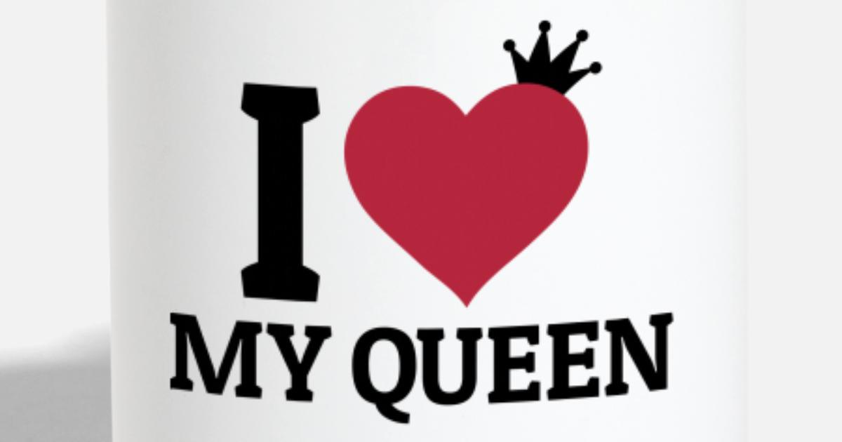 i love my queen by zombie penguin spreadshirt