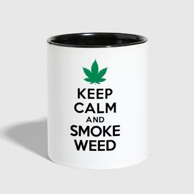 Keep calm and smoke weed - Contrast Coffee Mug
