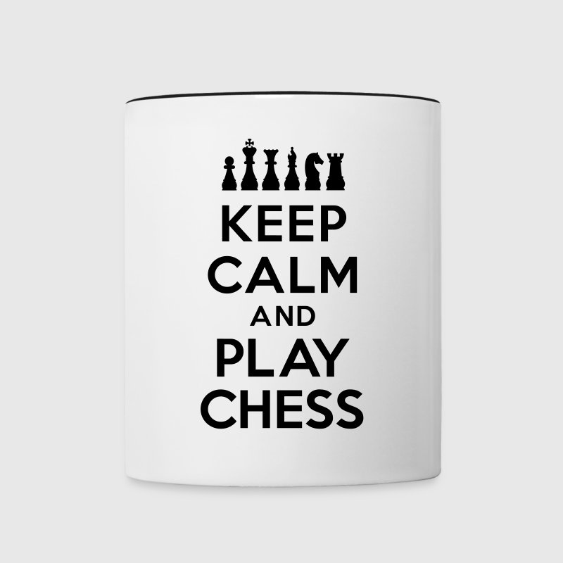 Keep calm and play Chess - Contrast Coffee Mug