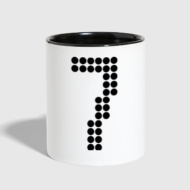 7, Numbers, Football Numbers, Jersey Numbers - Contrast Coffee Mug