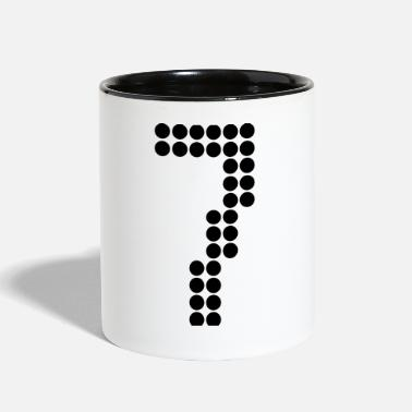 Jersey Number 7, Numbers, Football Numbers, Jersey Numbers - Contrast Coffee Mug