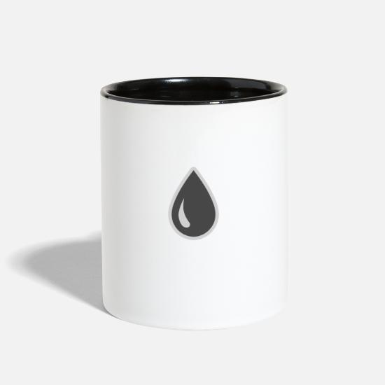 New Mugs & Drinkware - Icon of drop - Two-Tone Mug white/black