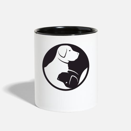 Birthday Mugs & Drinkware - Animal Welfare Yin Yang Buddhism Labrador Dog Gift - Two-Tone Mug white/black