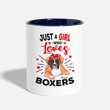 Boxer dog - Two-Tone Mug