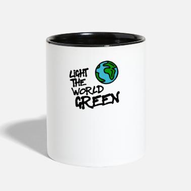 Love Colour the world in green - Two-Tone Mug