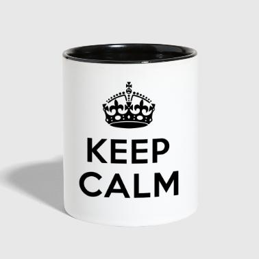 Keep calm and add your text - Contrast Coffee Mug