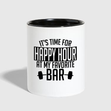 it's time for happy hour at my favorite bar A 1c - Contrast Coffee Mug